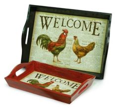 Melrose International Rooster Tray