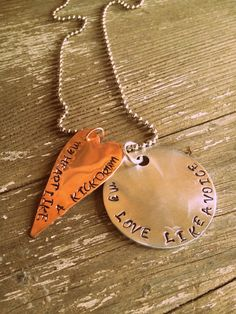 Hand Stamped Copper and Silver Avett by PrettyLittleThingsKB, $18.00