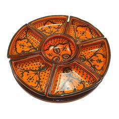 Medina Dip und Saucen Service Orient-Keramik handgefertigt 8-teilig | Souk du Maroc - Arganöl, Tee und Gewürze