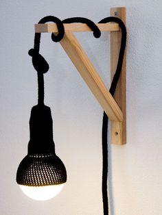Handgemaakte gehaakte lamp die je geheel naar eigen wens kunt samenstellen - #wonenvoorjou