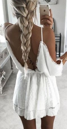 #summer #young #outfits |  Little White Dress