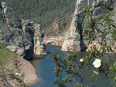 Los Canchos de Ramiro, protegidos mediante la figura de Zona de Especial Protección para las Aves (ZEPA). Están situados en el río Alagón embalsado por el Pantano de Alcántara.