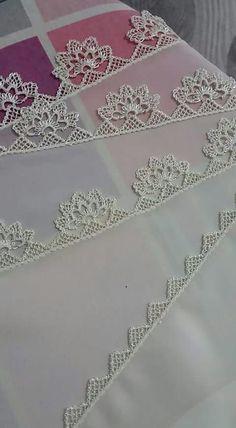 ~ Pin by Lieselotte Lina on Needle lace Crochet Lace Edging, Filet Crochet, Crochet Doilies, Crochet Flowers, Knit Crochet, Needle Lace, Needle And Thread, Baby Knitting Patterns, Crochet Patterns