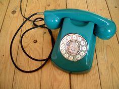 Old telephones.