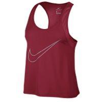 Nike Dri-FIT Run Fast Tank - Women's - Red / Grey