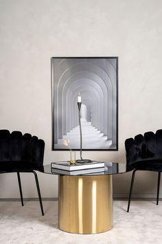 Furniture Fashion Sofabord Ystad, Diameter 75 cm - Glass - Sofabord - Ellos.no Glass, Design, Home Decor, Furniture, Fashion, Modern, Homemade Home Decor, Moda, Drinkware