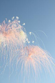 Daytime fireworks.