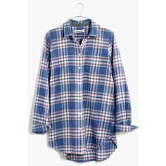 MADEWELL Rivet & Thread Flannel Shirt in Hanna Plaid ($118) ❤ liked on Polyvore featuring tops, hanna plaid, plaid flannel shirt, slim fit flannel shirt, tartan flannel shirt, blue plaid shirt and button up shirts