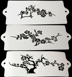 Expression Stencils - Cherry Blossom Tree (set of 3)