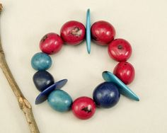 Tagua elastic bracelet, Pink turquoise bangle, vegetable ivory, eco jewelry, colorful bracelet, organic jewelry , spring cuff, exotic gift by ColorLatinoJewelry on Etsy Pink Turquoise, Colorful Bracelets, Exotic, Ivory, Bangles, Organic, Trending Outfits, Spring, Unique Jewelry