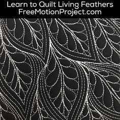 Learn how to machine quilt Living Feathers in a free video tutorial with Leah Day. Find it here: http://www.freemotionquilting.blogspot.com/2015/11/machine-quilt-living-feathers-454.html