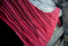 Beautiful shawl using two skeins of @malabrigo Rasista. Pattern by hadaknits.