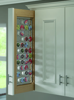 Stay fully caffeinated and well-organized with Decora's new K-Cup Wall Pullout. This sleek design makes the most of overhead cabinet space for an out-of-sight, easy-glide storage solution. Say goodbye to K-Cup clutter!