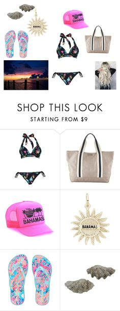 """""""Bahmas"""" by freckles-the-dork on Polyvore featuring Boohoo, Heidi Klein, Rembrandt Charms, Lilly Pulitzer, beachday, beach, bahamas and slay"""