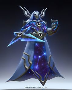 Cosmic Reaver Kassadin Concept Art, Paul Kwon on ArtStation at https://www.artstation.com/artwork/rzqre