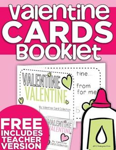 This Valentine Card Collection Booklet is a great, simple idea for any grade! Instead of throwing away those Valentine's Day cards that each of your students get once they get home.... they can make a keepsake book of them!