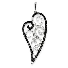 14K White Gold Black & White Diamond Heart Pendant by PriceRock - See more at: http://blackdiamondgemstone.com/jewelry/necklaces/pendants/14k-white-gold-black-white-diamond-heart-pendant-com/#sthash.BtwzcZ8U.dpuf