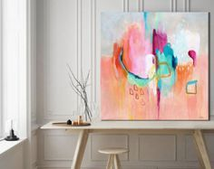The colour Pink inspires caring and brings feelings of calm and serenity to your surroundings. This painting celebrates pink in every shade, from deep ruby and fuchsia to coral, warm melon and the palest rose blush! This painting was selected as a finalist in the Etsy Design Awards 2015. ~~~~~~~~~~~~~~~~~~~~~~~~~~~~ TITLE: Awakenings #4 MEDIUM: Giclée print SIZES: Sizes shown in drop down list are actual image size - all prints come with an additional white border for framing INK: Archiv...