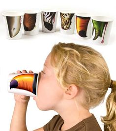 animal nose cups - great for a safari/jungle/zoo party... too bad it would take them too long to get here for Mary's Bday party. These are hillarious