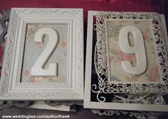 Table numbers I could do myself