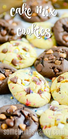 My New Favorite Cake Mix Cookie My favorite recipe for cake mix cookies. You can make so many different kinds of cookies with just one recipe! Cake Mix Cookie Recipes, Cake Mix Cookies, Yummy Cookies, Cake Recipes, Dessert Recipes, Cake Mixes, Cake Mix Brownies, Picnic Recipes, Picnic Ideas