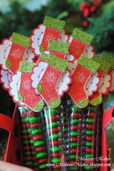 Stitched Stocking Party Favor with cello bags