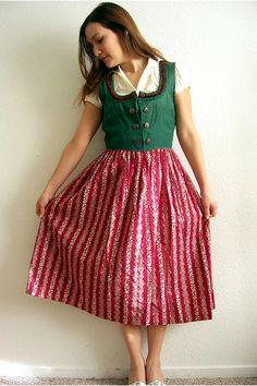 Austrian dirndl dress