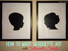 DIY Silhouette Art w