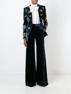 Emilio Pucci Velvet Wide Leg Trousers - Tiziana Fausti - Farfetch.com