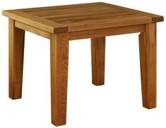 Vancouver Premium Oak Fixed Top Square Dining Table - Besp Oak Square Dining Tables, Dining Table In Kitchen, Solid Oak Furniture, Chapelle, Solid Wood, Rustic, Vancouver, Link, Home Decor
