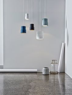 The stunning Notch pendant lights are by Emma Fox-Derwin and Nigel Groom of Wellington's Well-Groomed Fox.