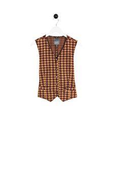 Rolf Vest dogtooth wine Organic Cotton, Peplum, Vest, Wine, Tops, Fashion, Moda, Fashion Styles, Veil