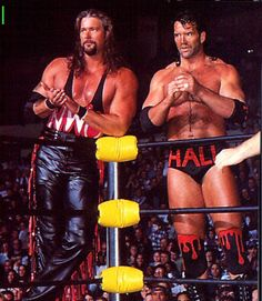 kevin nash and scott hall the outsiders Nwo Wrestling, World Championship Wrestling, Watch Wrestling, Wrestling Stars, Wrestling Superstars, Wrestling Divas, Attitude Era, Scott Hall, Kevin Nash