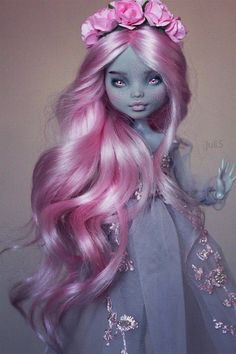 Monster High Doll Clothes, Custom Monster High Dolls, Monster Dolls, Monster High Repaint, Custom Dolls, Monster High Crafts, Monster High Art, Pretty Dolls, Beautiful Dolls