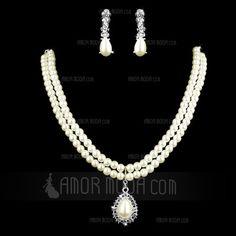Jewelry - $9.99 - Elegant Alloy With Pearl Rhinestone Women's Jewelry Sets (011005583) http://amormoda.com/Elegant-Alloy-With-Pearl-Rhinestone-Women-S-Jewelry-Sets-011005583-g5583