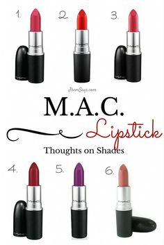 A Little Thought on M.A.C. Lipstick Shades