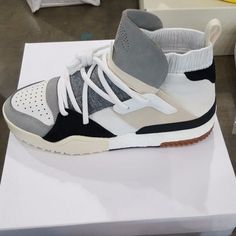"Alexander Wang High Top ""White Grey Black "" Sneakers -Dead Stock - UK 7.5 / US 8"