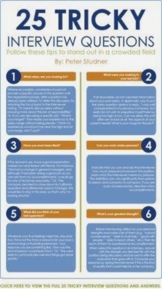 Infographic 10 of 25 Tricky Interview Questions Interview Tips For Teachers, Interview Questions For Employers, Teacher Interviews, Interview Tips Weaknesses, Job Interview Hairstyles, Job Interview Attire, Interview Advice, Interview Skills, Amigurumi