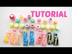how to: miniature tubes and jars for bath or beauty products