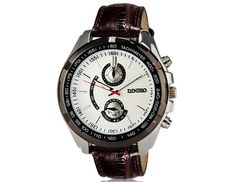 Fashionable Round Dial Analog Unisex Wrist Watch with Simple Design Faux Leather Band