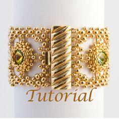 Seed Bead and Rivoli Bracelet Classical Dreams. $7.00, via Etsy.
