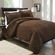 Sable Fur Duvet Cover Set In Brown From Bed Bath Beyond Covers