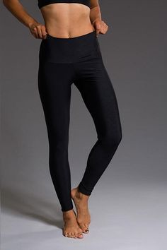 onzie WOMENS LEGGINGS ONZIE High Rise Legging - Black Geo