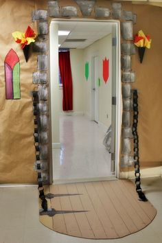 castle decor for vbs - Google Search--fastening chain with silver duct tape