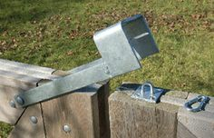 Gate Latch Homemade Welded It Can Be Opened And Closed