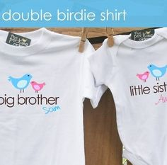 SMALL FLOCK TWO SHIRTS  big sister little sister big by zoeysattic