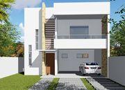Planta de casa com suite frontal e varanda gourmet cod 141
