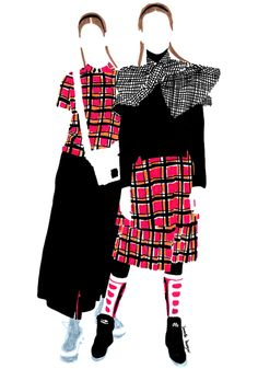 MARC BY MARC JACOBS F/W illustration by Janelle Burger
