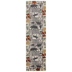 Autumn Leaves Linen 2 ft. 1 in. x 7 ft. 10 in. Runner