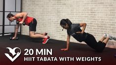 20 Minute HIIT Tabata Workout with Weights - Dumbbell Training Total Body Workout at Home Cardio At Home, Body Workout At Home, At Home Workouts, Tabata Workouts, Strength Training Workouts, Training Exercises, Dumbbell Exercises, Body Workouts, Gym Training